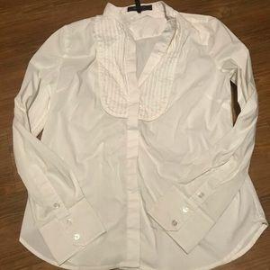 EUC BCBGMAXAZRIA White Button Up Blouse